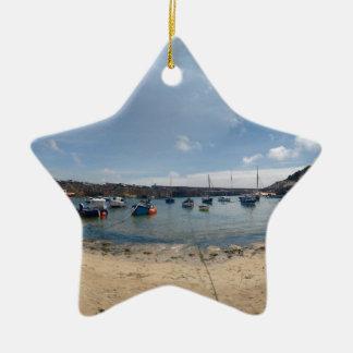 marazion harbour ceramic star ornament
