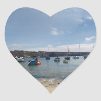 marazion harbour heart sticker