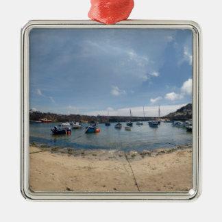 marazion harbour metal ornament