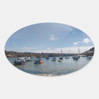 marazion harbour oval sticker