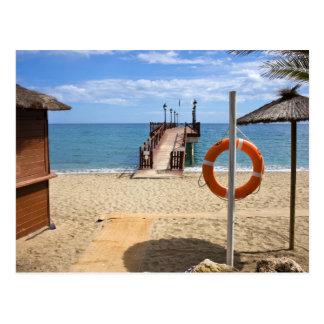 Marbella Beach in Spain Postcard