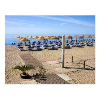 Marbella Beach on Costa del Sol  in Spain Postcard