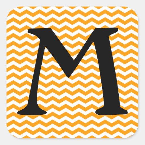 Marbella Orange Wave Chevron Stickers