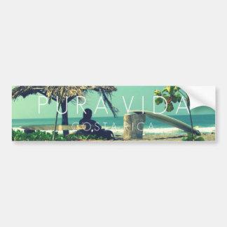 Marbella Surfer Pura Vida Costa Rica Bumper Bumper Sticker
