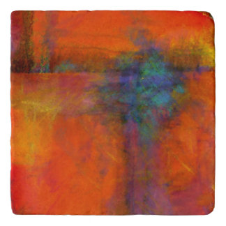 Marbl Trivet featuring a Colorful Abstract Pain
