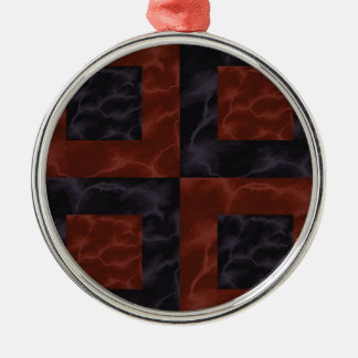 Marble 3 metal ornament