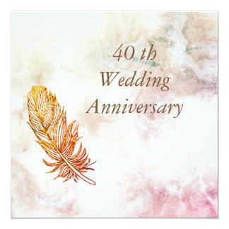Marble  40th Wedding Anniversary Invitation