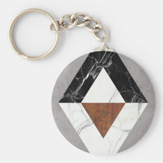 Marble Abstract Basic Round Button Keychain
