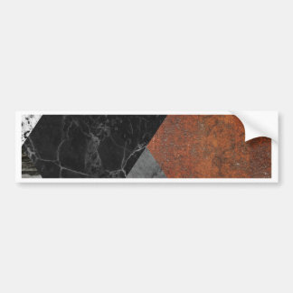 Marble abstract bumper sticker
