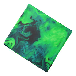 Marble Acrylic Painting in Green Bandana