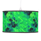 Marble Acrylic Painting in Green Pendant Lamp