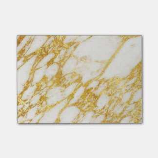 marble and gold texture post-it® notes