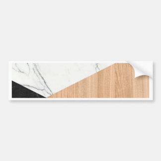 Marble and Wood Abstract Bumper Sticker