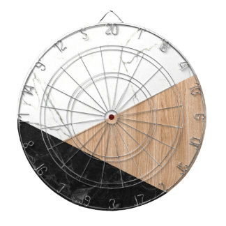 Marble and Wood Abstract Dartboard