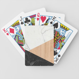 Marble and Wood Abstract Poker Deck