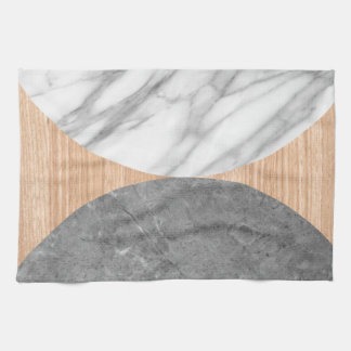 Marble and wood abstract towel