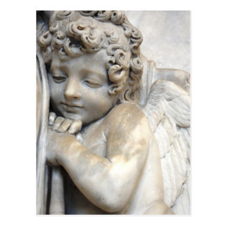 Marble Angel in Venice Postcard