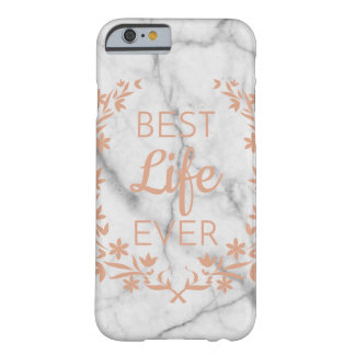 Marble Best Life Ever Phone Case