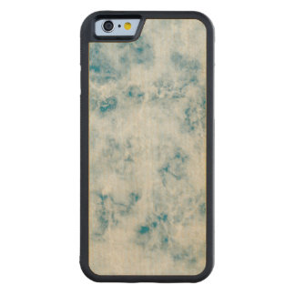 Marble Blue Texture Background Carved Maple iPhone 6 Bumper Case