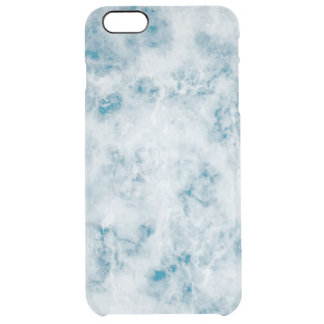 Marble Blue Texture Background Clear iPhone 6 Plus Case