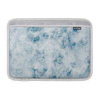 Marble Blue Texture Background MacBook Sleeve