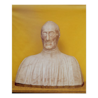 Marble bust of Giovanni Chellini Poster