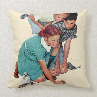 Marble Champion Throw Pillow