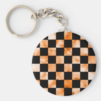 Marble Checkerboard Keychain