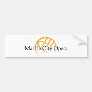 marble city opera bumper sticker