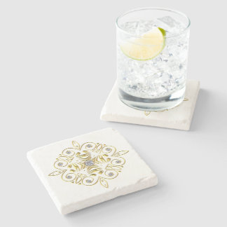 Marble Coaster with Gold Accent