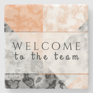Marble Collage Professional Business New Employee Stone Coaster