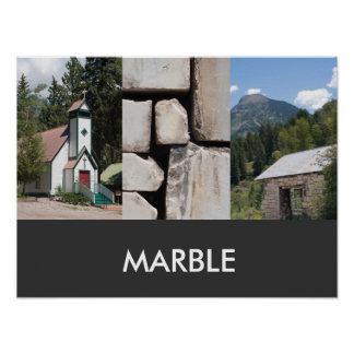 Marble, Colorado Travel Poster