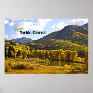 Marble, Colorado - Vintage Style Poster