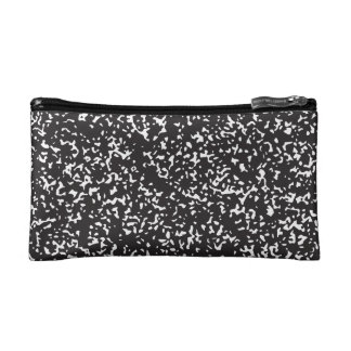 Marble Composition book cosmetic pouch
