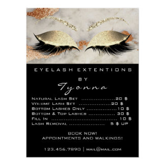 Marble Copper Gray Makeup  Eyes Lashes Prices Poster