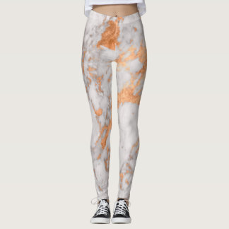 Marble & Copper Leggings