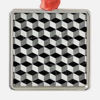 Marble cubes Silver-Colored square ornament
