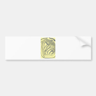 Marble design bumper sticker