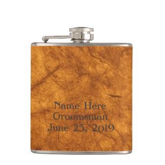 Marble Design Hip Flask