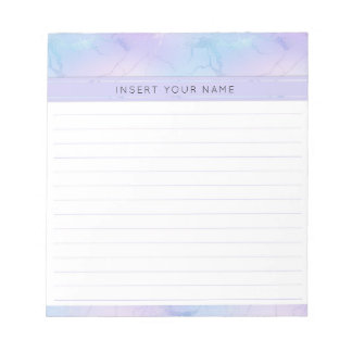 "Marble Design Personalized Notepad 5.5"" x 6"""