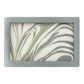 Marble design rectangular belt buckles