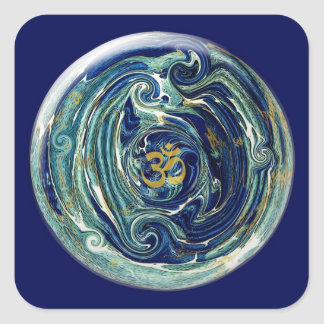 Marble Earth Om Sticker