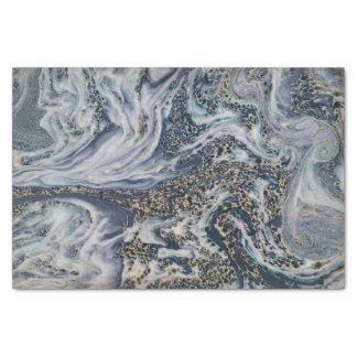 Marble Effect Blue Luxury Gift Wrap Tissue Paper