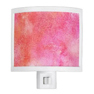Marble Effect Pink and Orange Bathroom Nite Light