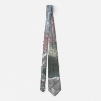 Marble effect tie