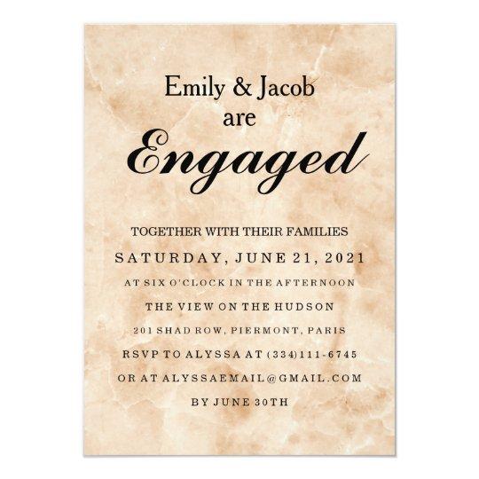 Marble Elegant Wedding Engagement Card