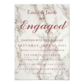 Marble Elegant Wedding Engagement Card