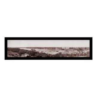 Marble Falls TX Scenic Photo 1908 Poster