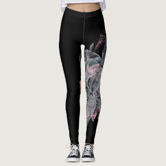 Marble fashion black pink blue sophisticated swirl leggings