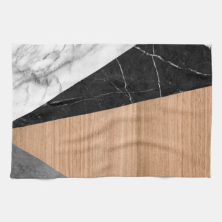 Marble, Garnite, Teak Wood Abstract Kitchen Towels